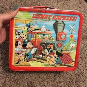 Antique 1979 Vintage Disney Tin Lunchbox